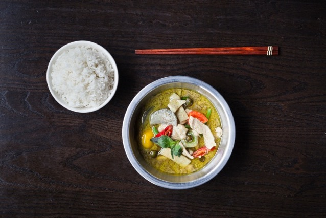 Green Monkfish Curry