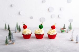 Red Velvet Cupcakes with White Chocolate Cream Cheese Frosting