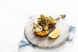 langoustines on toast, prawns, how to cook prawns, niall sabongi, sustainable seafood ireland
