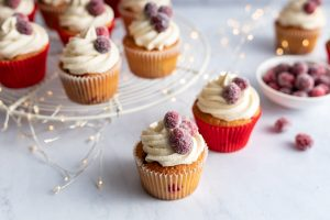 Cranberry Vanilla Cupcakes, I Love Cooking Christmas recipes, Christmas
